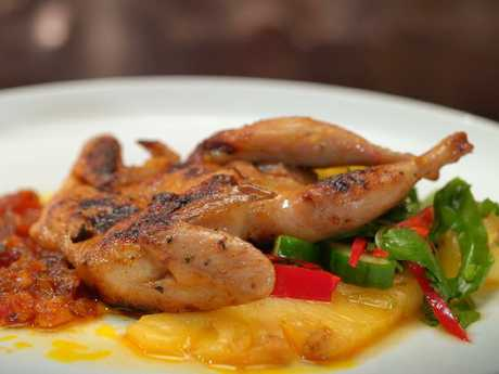 Kim and Suong's 2nd Course (60 mins): Quail with Vietnamese XO Sauce. Picture: Supplied/Seven