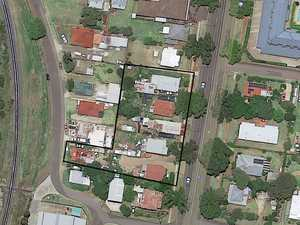 Row of residential lots for sale as commercial proposal