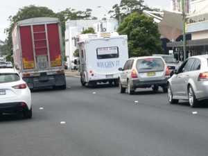 Truck and car crash impacts city centre