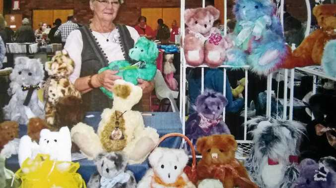 HEART-WARMING: Barb Nimmo, of Country Heart Events, with her display of unique bears at last years Doll, Bear and Craft Show, reborn this year with a winter theme on May 19.