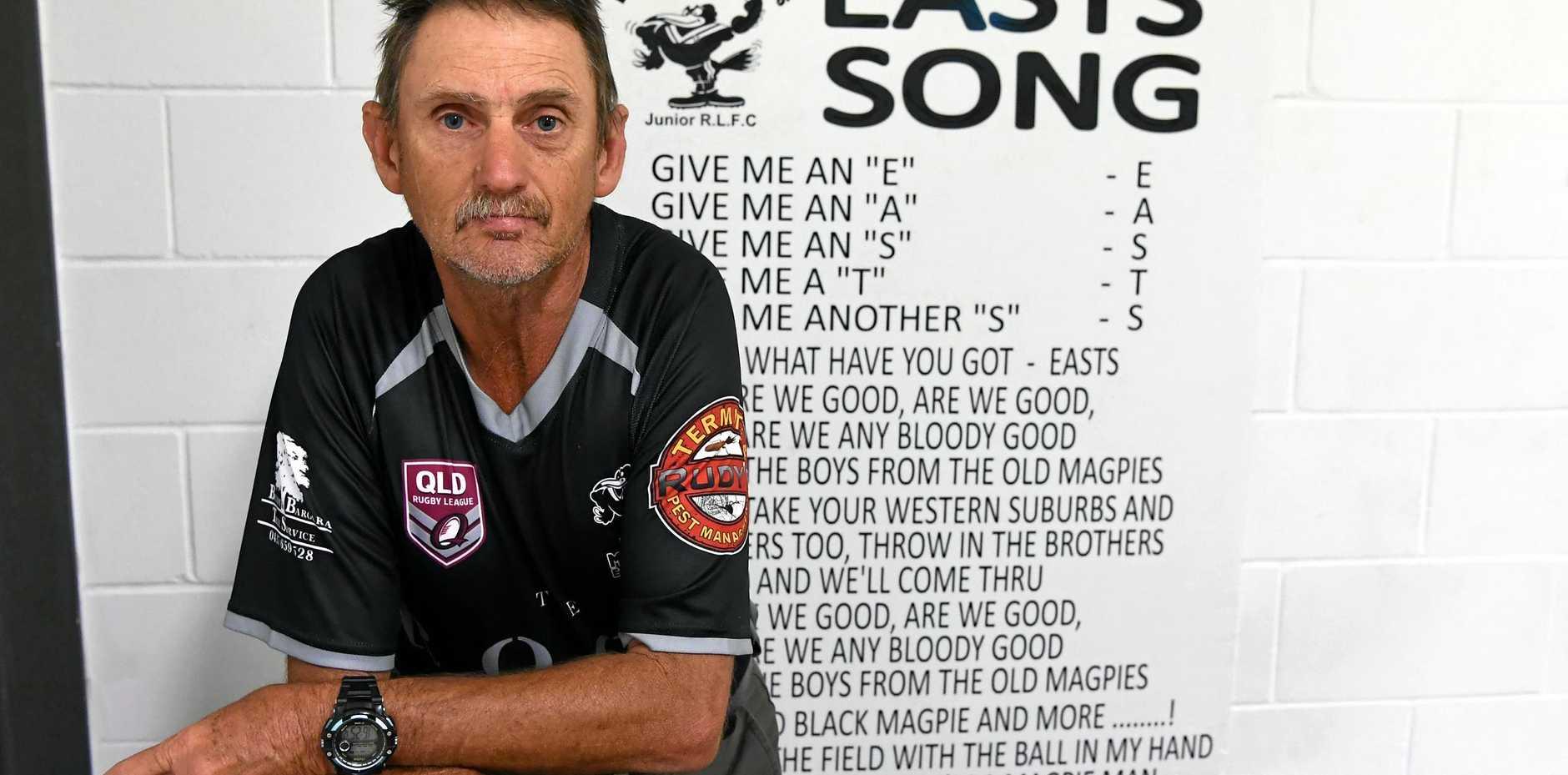 CLUB STALWART: Gav Chapman has been with Easts' for twenty years.