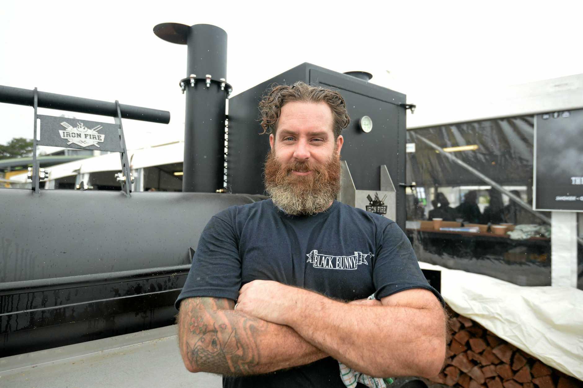 BEEF 2018: Josh Collins cooking beef.