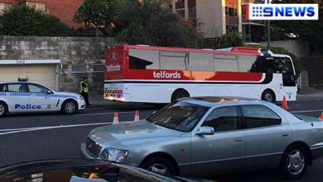 A woman has been hit by a bus in Sydney's east.