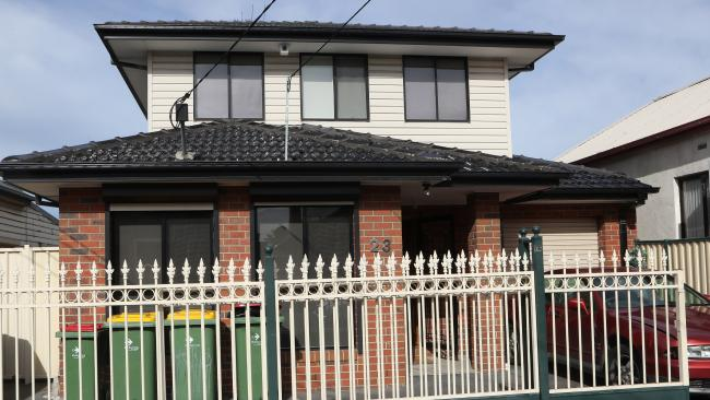 The house in Ryan St, Footscray where an out-of-control party caused major damage. Picture: David Crosling