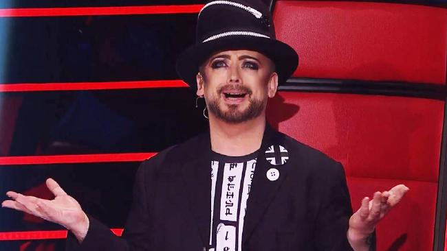 Boy George had a tense exchange with Kelly Rowland on The Voice.