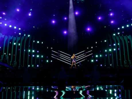 Jessica Mauboy at Eurovision rehearsals. Picture: Supplied
