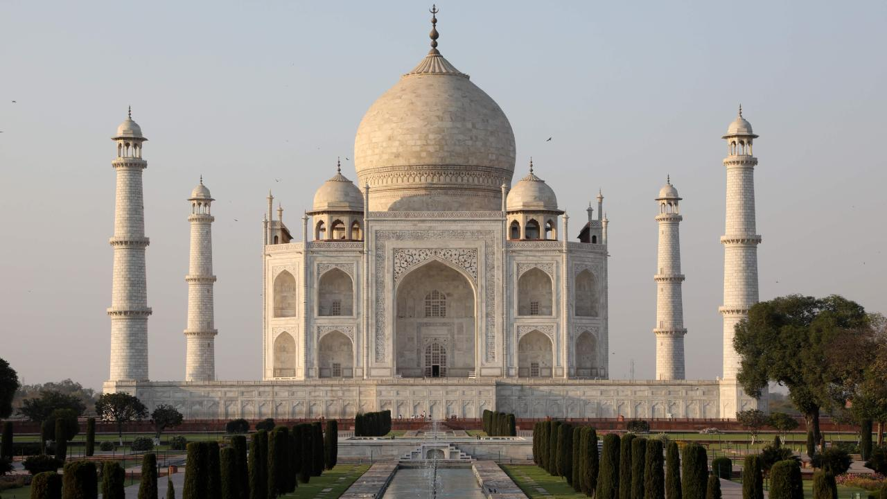 The Indian Supreme Court has stepped in as the Taj Mahal succumbs to the perils of pollution. Picture: AFP/Ludovic Marin