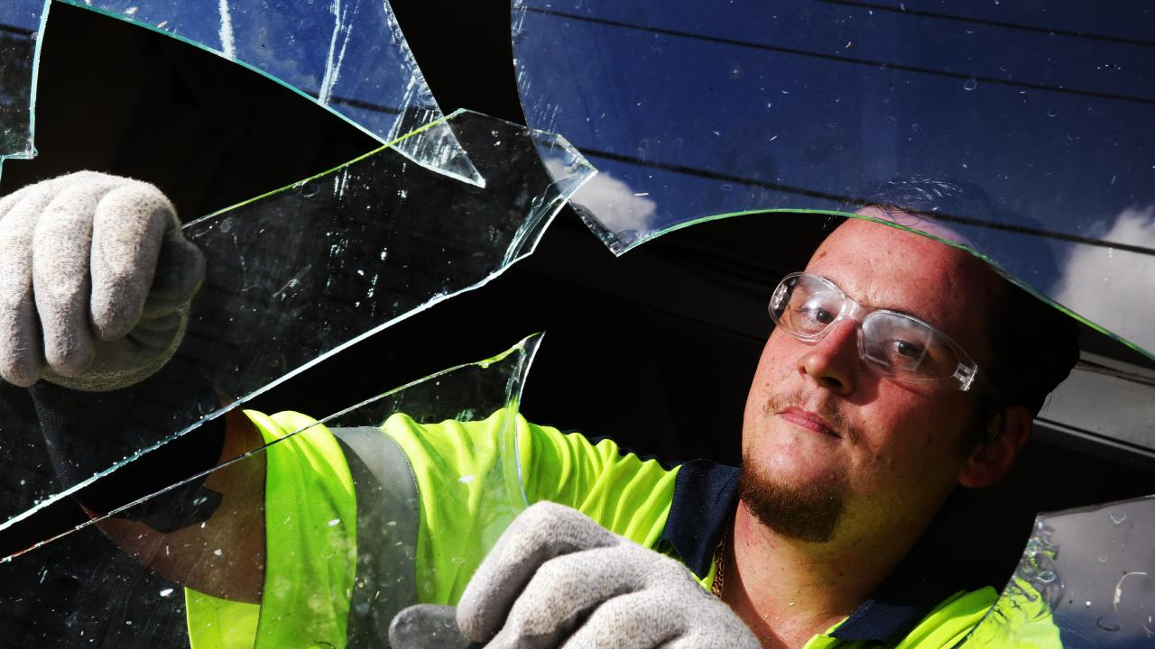 Glaziers, like Dan Regan of Moorooka, are some of the most successful small business people. Picture: Liam Kidston