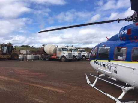 WORKPLACE ACCIDENT: A man was flown to Bundaberg Hospital after being injured at work.