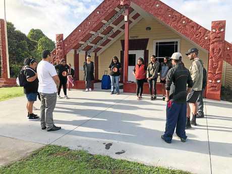 The Kunurang Krew visit their first marae - the Waiteti Marae - in Rotorua.