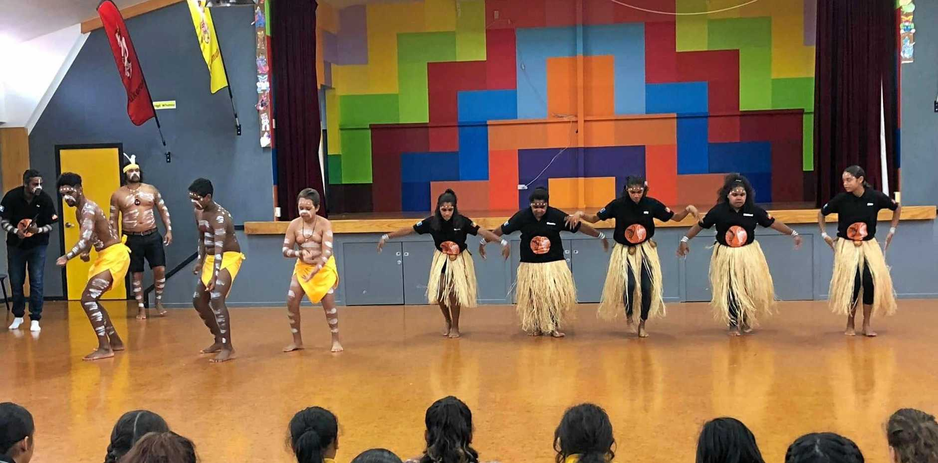CROSS COUNTRY CULTURES: The Kunurang Krew performed their first dance and song at Rotorua Primary School as part of their cultural immersion program in New Zealand.