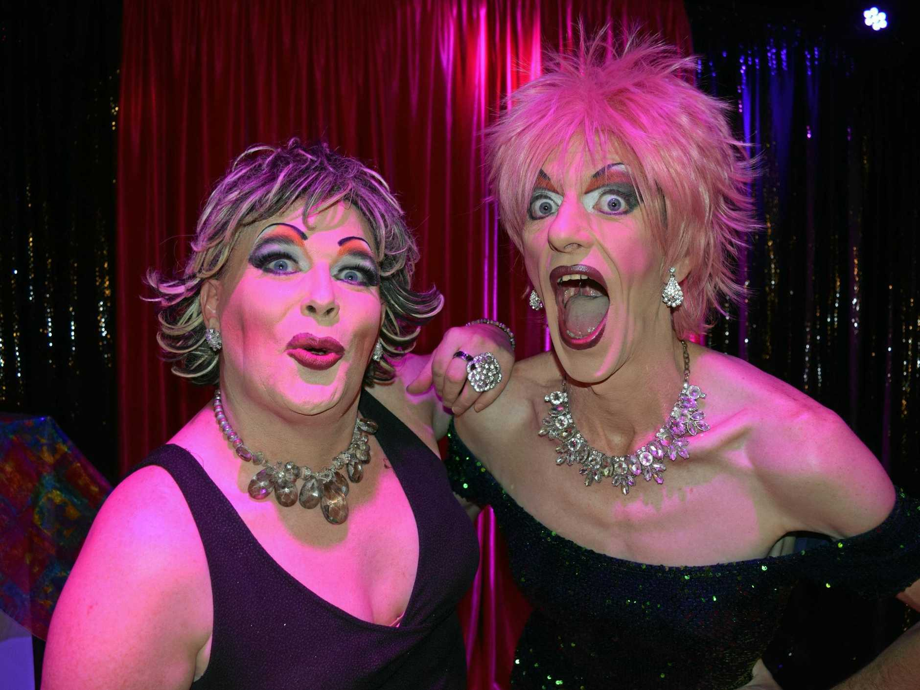 Sal Monalla and Melony Brests brought the house down at the Majestic Theatre Drag Queen Bingo on Friday night.