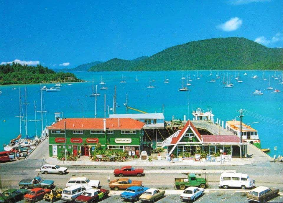 Shute Harbour ferry terminal in the 1980s. Photo posted by Nadine Little.