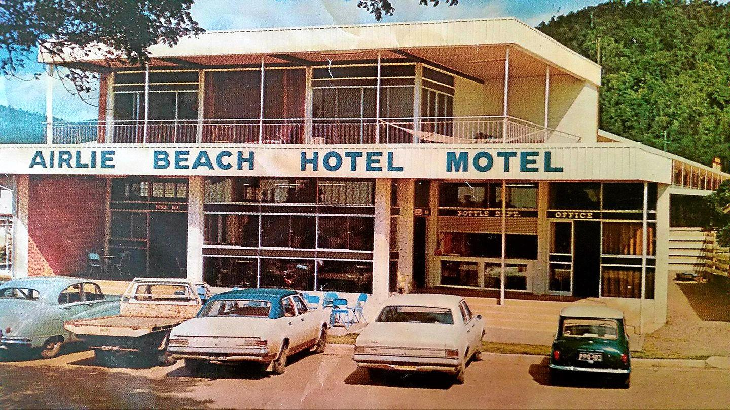 The original Airlie Beach Hotel circa 1970s, soon after the hotel opened in 1968.