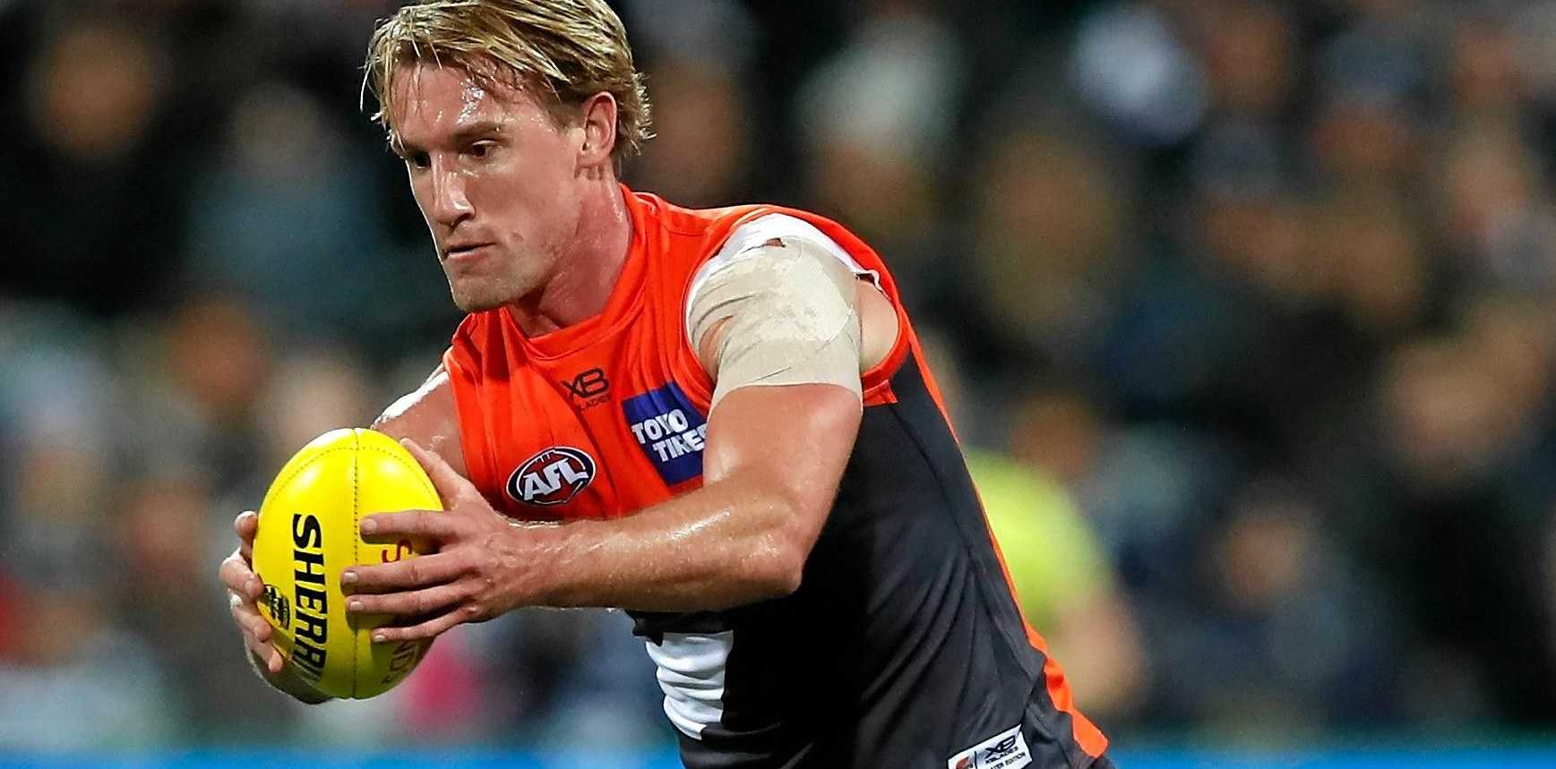 Lachlan Keeffe back in action for the Giants.
