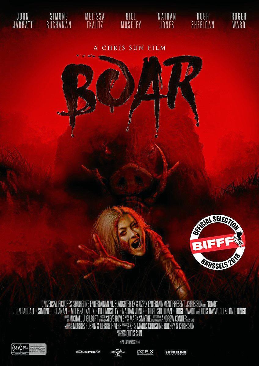 Poster for new horror film, Boar.