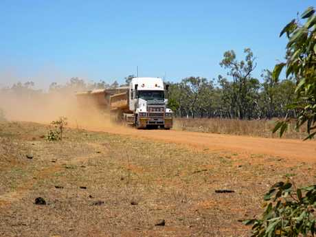 Trucks stir up dust on unsealed roads, causing health complications for Hendon residents.