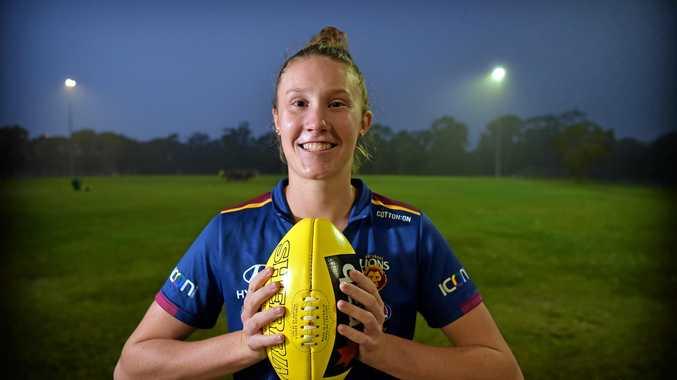 ONE TO WATCH: Brisbane Lions AFLW player Tahlia Randall returns to her junior club, Kawana Park Eagles.