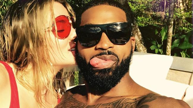 Khloe Kardashian and Tristan Thompson on holiday. Picture: Khloe Kardashian/Instagram