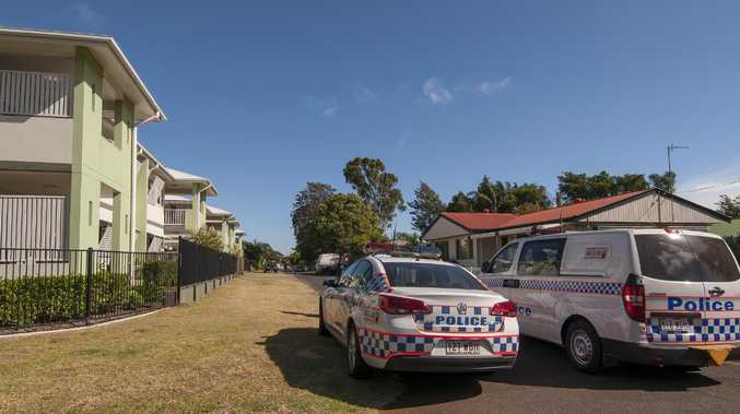 The scene where the Toowoomba woman was found dead. Picture: David Martinelli