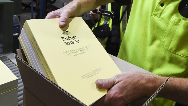 The 2018-19 Budget will be released at 7.30pm today. Picture: AAP Image/Lukas Coch