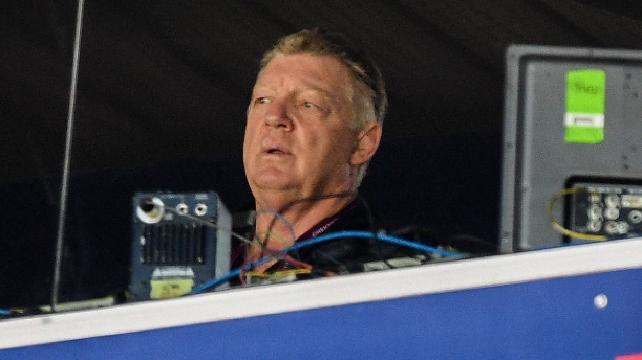 General Manager of the Penrith Panthers Phil 'Gus' Gould looks on.