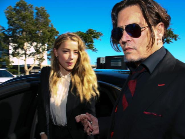 Johnny Depp's ex-wife Amber Heard accused him of being physically violent. Picture: AFP/Patrick Hamilton
