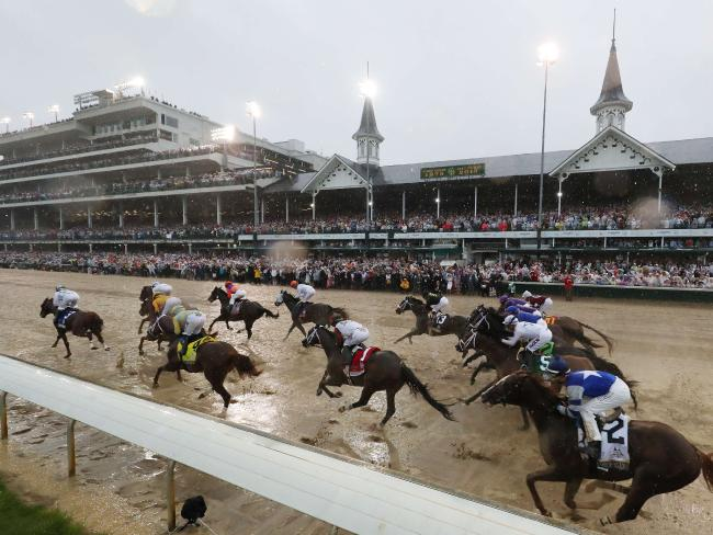 The wettest Kentucky Derby in history.