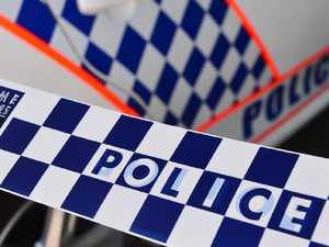 Forensic police investigating fatal truck and car crash