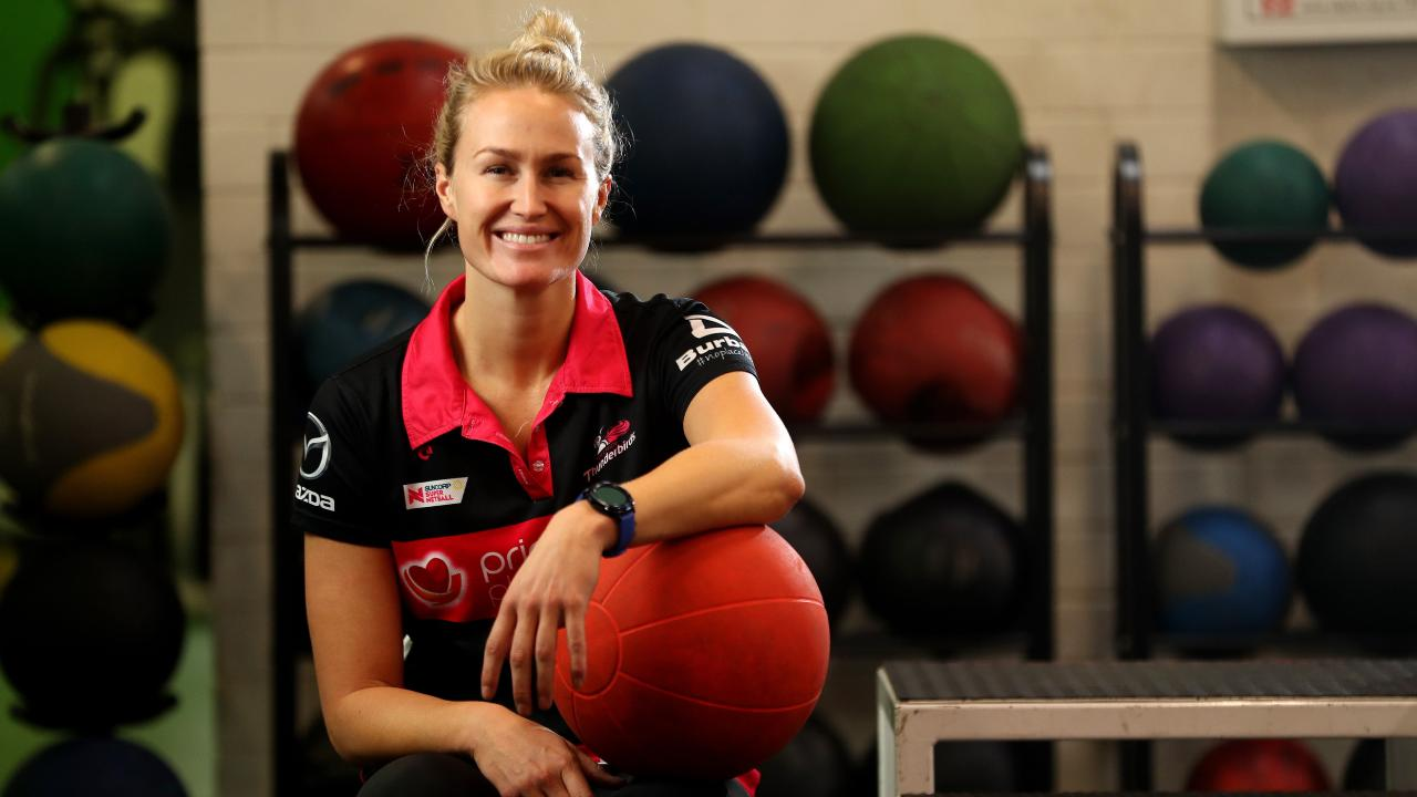 Adelaide Thunderbirds vice-captain Chelsea Pitman is looking forward despite her side's winless start to the Super Netball season. Picture: Calum Robertson