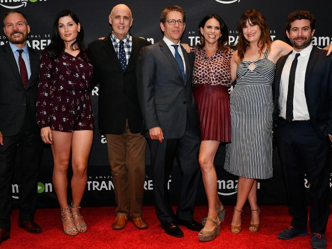 Members of the Transparent cat, including Trace Lysette and Jeffrey Tambor. Picture: Larry French/Getty Images for Amazon