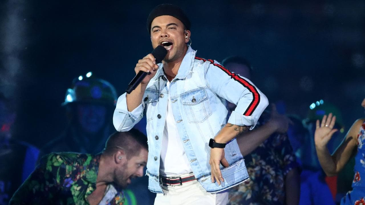 Guy Sebastian performs during the Closing Ceremony for the Gold Coast 2018 Commonwealth Games at Carrara Stadium on April 15. (Photo by Scott Barbour/Getty Images)