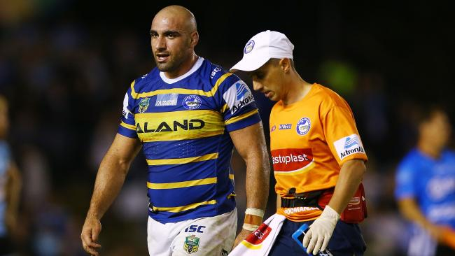 Mannah could be on the sidelines for a month. (Matt Blyth/Getty Images)