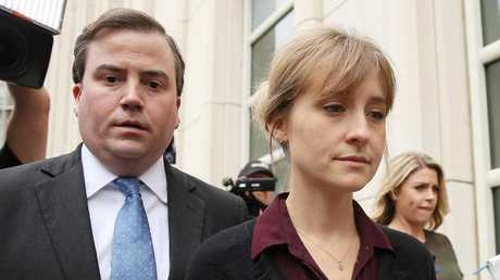 Allison Mack outside court. Photo: Jemal Countess/Getty Images/AFP