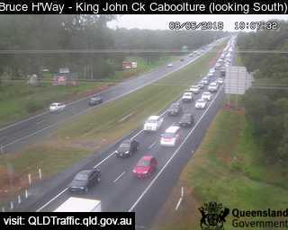 Bruce Highway traffic after a crash at Elimbah.