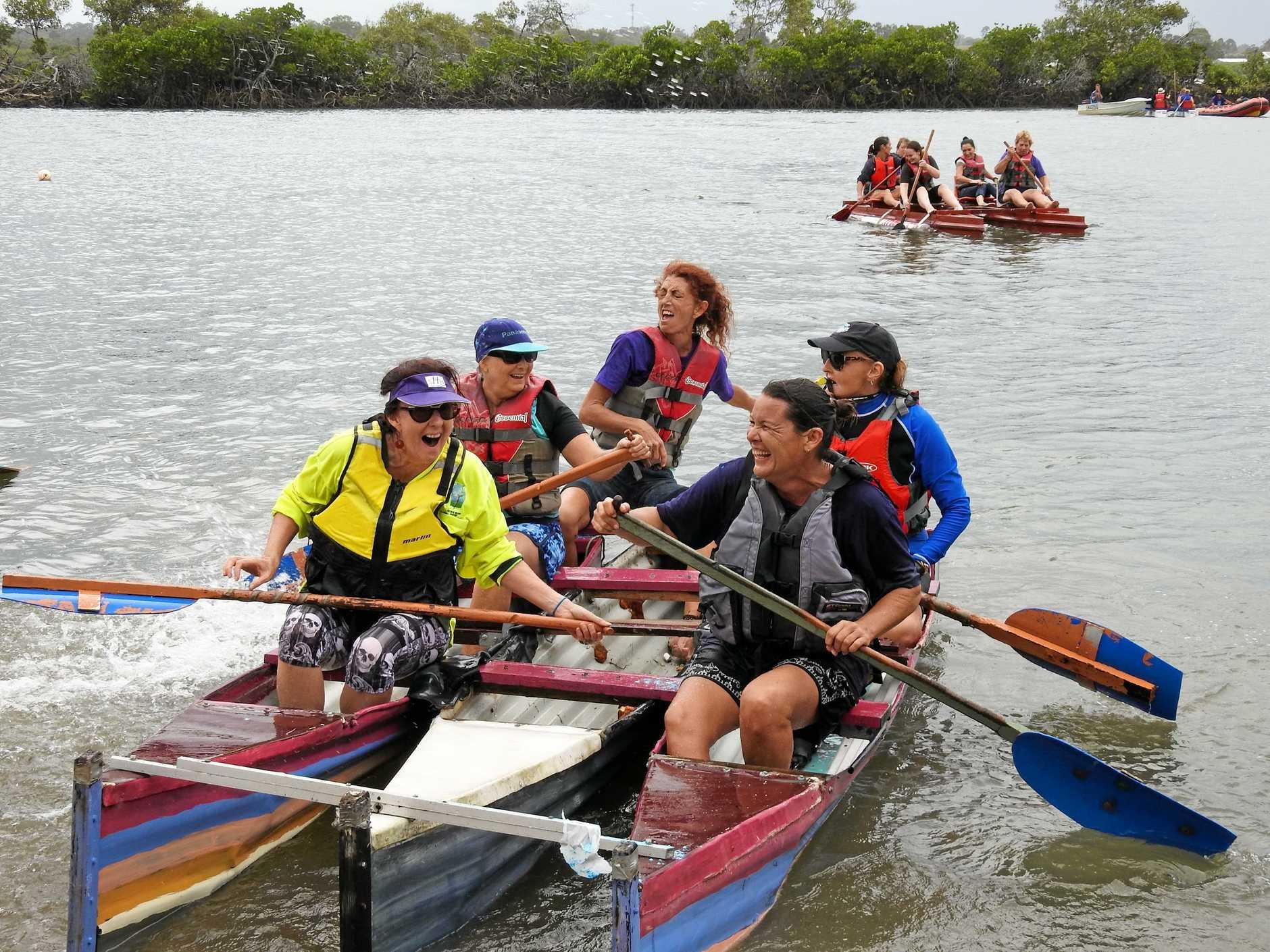 CLOSE FINISH: The ladies go head to head at Baffle Creek