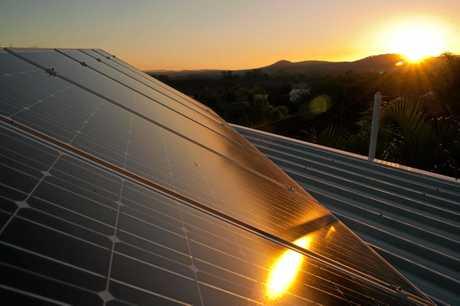 Solar panel growth.