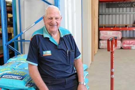 HAMMERING ON: Hardware legend John Byron is 80 and still works Sundays at Olsens Home Hardware.