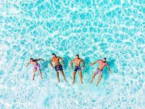 Male underwear models expose Fraser Island
