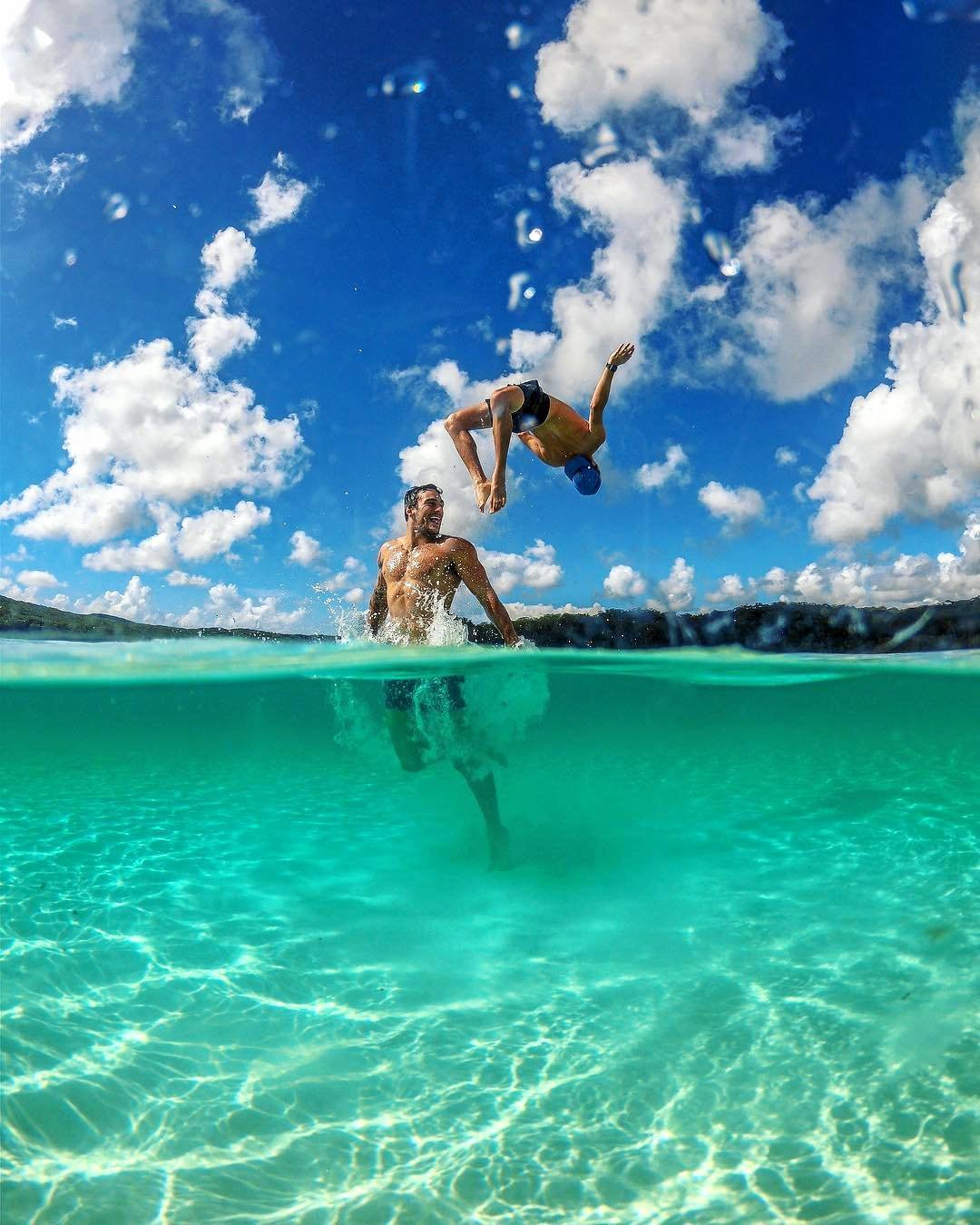 Jockey brand ambassadors during their getaway trip to Fraser Island.