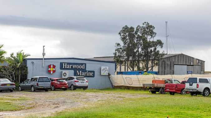 NEW BUILD: Harwood Marine is preparing to build a new shed. INSET: Route trucks will take to bring in fill for shed build.