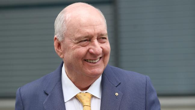 Radio host Alan Jones outside court. Picture: AAP/Jono Searle