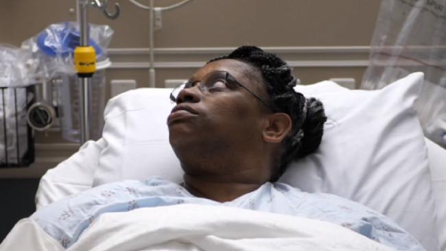 Kendra Jackson's nose 'ran like a waterfall' for five years before doctors diagnose a brain fluid leak. Picture: Nebraska Medicine