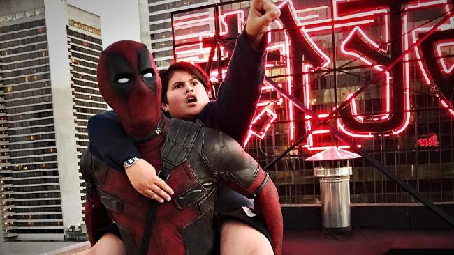 Ryan Reynolds and Julian Dennison on set of Deadpool 2. Picture: @vancityreynolds/Instagram