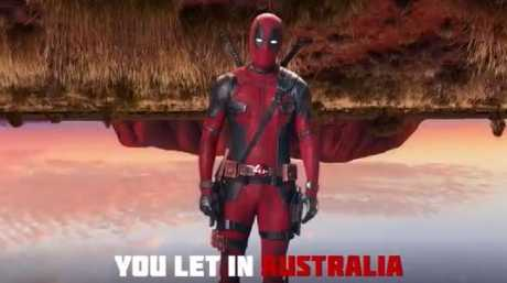 Canadian Ryan Reynolds has slammed Australia in new Deadpool video. Picture: Twitter/@VancityReynolds