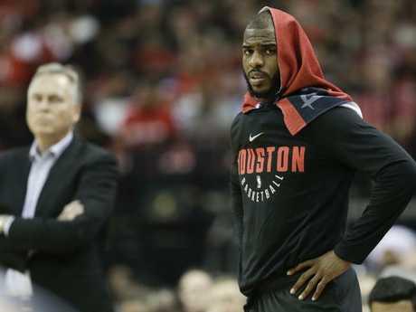 Houston Rockets guard Chris Paul played like a man possessed