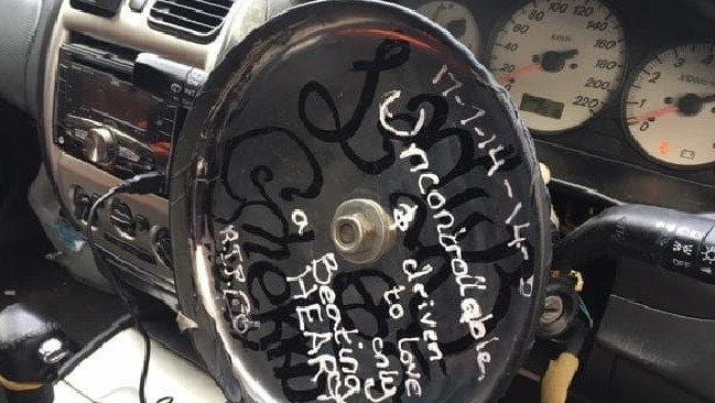 An SA driver today learned that cookware is not a suitable replacement for a steering wheel. Picture: SA Police