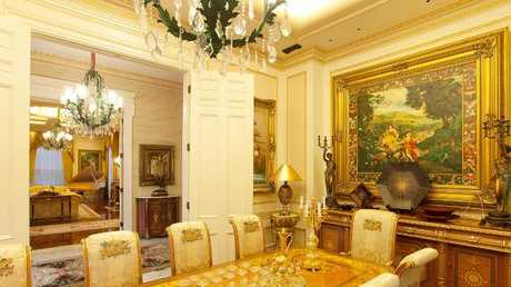 The formal dining room in the home at 36 Dickson Tce, Hamilton.