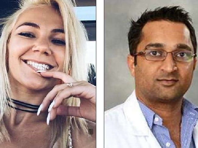 Olya Langille, left, died of an accidental overdose at Dr. Naval Parikh's, right, apartment.