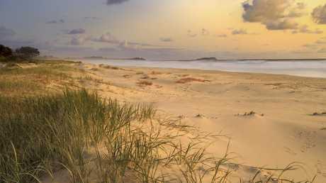 'Don't swim here' warns the local surf life saving club.